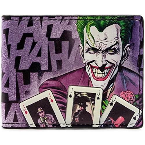 Cartera de DC Comics Batman Laughing Joker Púrpura