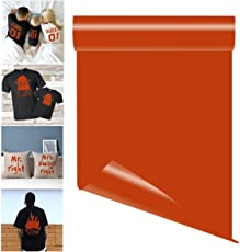TOTAL Home Heat Transfer Vinyl Sheet Iron on Adhesive Vinyl for T-shirts, Garments (orange)