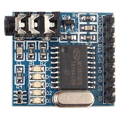 HALJIA MT8870 DTMF Sprachdekodierungsmodul Telefonmodul Audio-Decoder Sprachwahlsteuerungsmodul für Arduino, Raspberry Pi, ARM MCU und mehr -