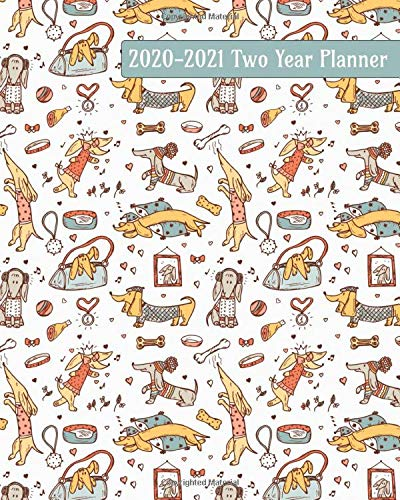 Cool Dog Outfits - 2020-2021 Two Year Planner: Dressed up