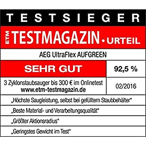 Amazon.de: AEG UltraFlex AUFGREEN Staubsauger ohne Beutel