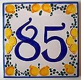 OCCASIONE Targhe Numeri Civici Dimensione cm. 15 x 15 - Ceramica Handmade Made in Italy SOLO ALCUNI NUMERI DISPONIBILI