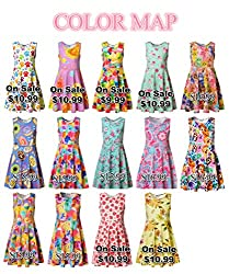 Jxstar Girls' Cartoon Animal Dress Beautiful Garden Printed Dress Owl Bee Snail Giraffe Pattern Sleeveless Dress