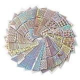 288 Stück Nagelaufkleber Vinyls Nail Art Maniküre Schablone DIY Nagel aufkleber , 24 Blatt, 72 Designs (24pes)
