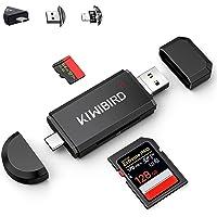 KiWiBiRD USB C SD Kartenleser, Micro SD Karte auf USB Adapter Stick, Typ C Speicherkarten lesegerät für SDXC SDHC UHS-I…