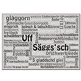 Dresdner Art Kunstdruckposter Wortwolke Uff Säggs'sch |