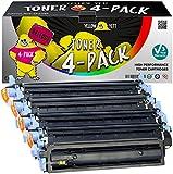Yellow Yeti 4er Pack 124A Premium Toner kompatibel für HP Color LaserJet 1600 2600N 2605DN CM1015 MFP CM1017 MFP | Q6000A 2.500 Seiten Q6001A Q6002A Q6003A 2.000 Seiten [3 Jahre Garantie]