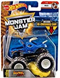 JURASSIC ATTACK HOT WHEELS MONSTER JAM TRUCK MUD 1/6 w/ RE-CRUSHABLE CAR