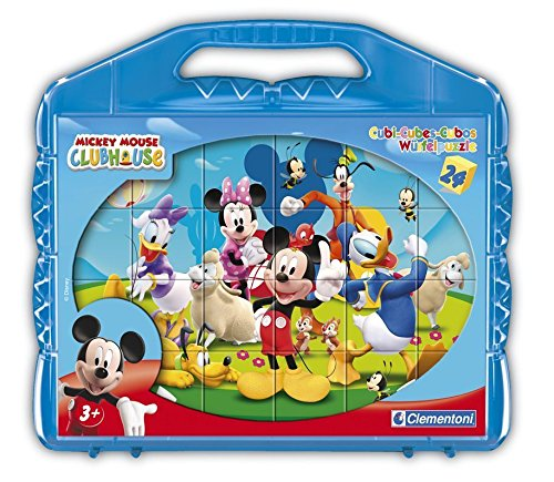 Clementoni - 42495 - Puzzle 24 Cubes - Mickey Mouse