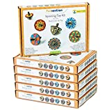#4: Funvention (Pack of 6) Spin Table Top Kits - Set of 6 DIY Self Assembly Educational Puzzle Wooden Tops Kit - Coloring & Gravity Leanring Kit for Kids - Birthday Party Return Gift - Fun Desk Toys