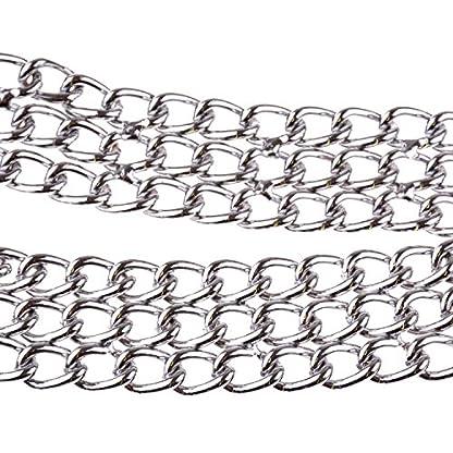 Heavy Duty Triple Choke Collar Chain Chrome Plated Metal Iron Dog Chain Collar for Training Walking Obedience Behavior… 4