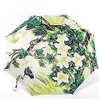 Umbrella, Green House Folding Travel Umbrella Windproof Sun UV Ray Rain Umbrella