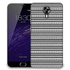 Snoogg Aztec Black and White Designer Protective Back Case Cover For Meizu M2