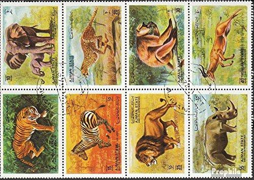 sellos-para-coleccionistas-ajman-1304-1311-bloque-de-ocho-un-completaunus-matasellado-1972-animales-