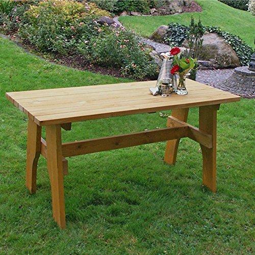 Kiefer Gartenmöbel (Gartentisch FREITAL 150×70 cm, Massiver Kiefer (35mm stark))