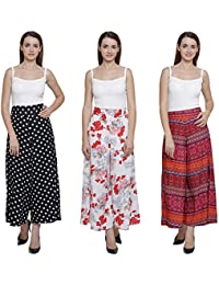 Vogue Nation Combo Of 3 Black & White Polka Dots, White( With Pink And Red Print) Floral Bouquet Design And Multicolour...