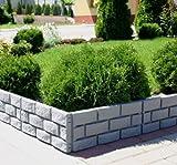 Zaun-Mauer-Rasenkante-Palisade-Beeteinfassung-grau-174-m-x-175-cm-x-25-cm-stark