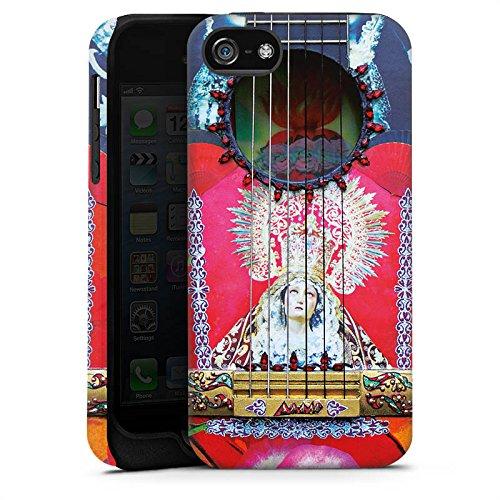 Apple iPhone X Silikon Hülle Case Schutzhülle Gitarre Rot Spanien Tough Case matt