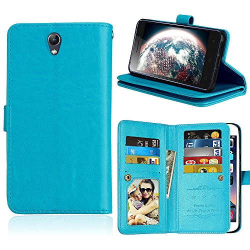 Casefirst Lenovo Vibe S1 PU Wallet Case, Lenovo Vibe S1 PU Leather Case, Premium PU Leather Man Folio Stand Bumper Back Cover for Lenovo Vibe S1 PU - Blue