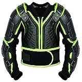 Kinder-Körper-Rüstung Motocross Motorrad Motorrad Schutz Jacke Motorrad Körper Schutz CER genehmigt - Bergradfahren ( Grün / Green - S - Bis 6 Jahre alt )