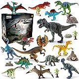 BeebeeRun Dinosaure Jouet 21pcs Plastique Dinosaure Chiffres Educatif Jouets pour...
