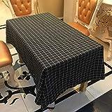 QWEASDZX Manteles Familia Simple y Moderna Mantel Antimanchas Cuadrada Cuadrícula Antifouling Adecuado para Interiores y Exteriores 100X140cm
