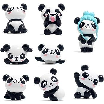 8 Pcs Magneti Frigorifero Panda Magneti Ufficio per Calendari Lavagne Biancheria Mappe Resina Divertimento Decorazione