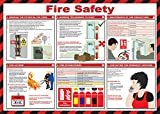 Best Safety Posters - Safety First Aid Laminated Fire Safety Poster Review