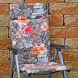 6 Hochlehner Auflagen 123 x 50 x 3 cm Madison Fiber de luxe Newspaper Taupe Gartenpolster (ohne Sessel)