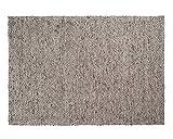 Sukhi Yash: Flachgewebeteppich, Wolle Elfenbein grau, geeignet für Büro oder Esstisch (300cm x 400cm / 9' 10.1'' x 13' 1.4'')