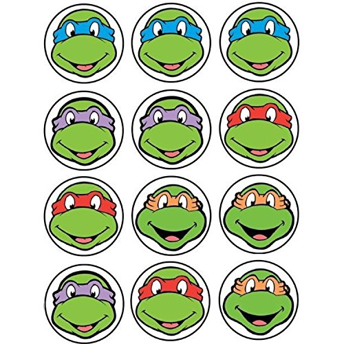 Ninja Turtles 4 Thema Cupcake/Muffin Aufleger (Cupcake Turtle Ninja Dekorationen)