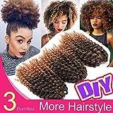 Silike - Extensión de cabello rizado ondulado (paquete con 3unidades) 21 cm