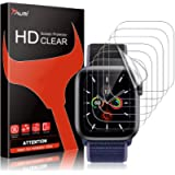 TAURI 6 Pack Screen Protector For Apple Watch Series 6 5 4 SE 44mm Bubble-Free Easy Installation HD Clear TPU Protective…