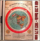 Flat Earth Poster: Gleasons New Standard Map of World 1892 - 40x28 inch (101x72cm) - Printed on Medium Thick PVC Weatherproof Outdoor Tarpaulin