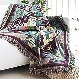 HYLR Dreischichtiges Baumwollfaden gewebt in eine doppelseitige Muster Wohnzimmer Sofa Decke Decke Schlafzimmer Deckel Teppich Elektrische Staubschutz Sofa Sofa Handtuch Bett Tischdecke Sommer Quilt Baumwolle Europäische Stil Zimmer Dekoration