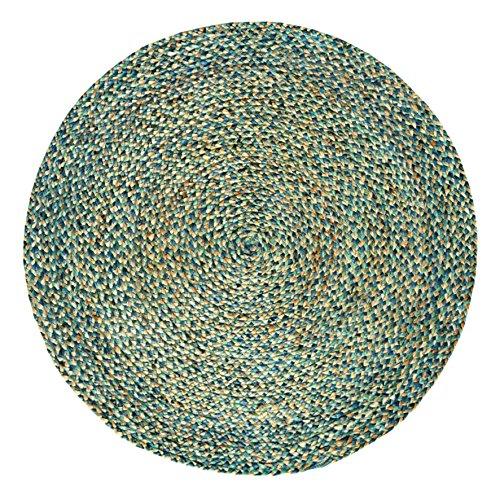 Hecho a mano trenzado redondo yute Natural alfombra (150cm de diámetro, espectro)...