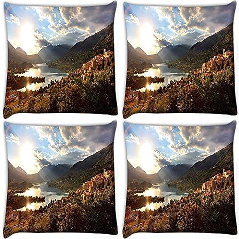 """Snoogg varietà stampa giardino In confezione da 4 cuscini 30,48 30,48 cm x 12 x (12"""")-Federa per cuscino"""