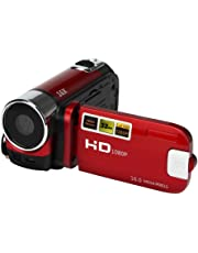 Leoie 16MP HD 1080P 2.7 inches TFT LCD Screen Digital Video Camcorder with 16X Zoom (Red)