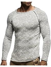 LEIF NELSON Herren Strickpullover Pullover Sweatshirt LN20713