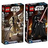 Lego Star Wars 2er Set Baubare Figuren 75113 75117 Rey + Kylo Ren