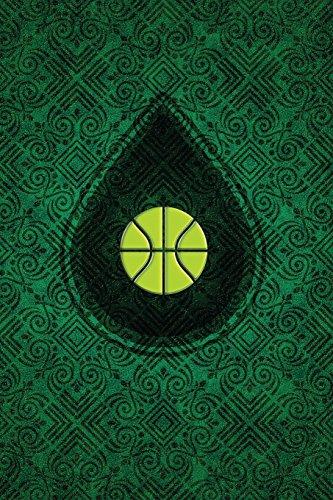 Monogram Basketball Journal: Blank Notebook Diary Memoir Log Logue: Volume 52 (Monogram Chartreuse 365 Lined)