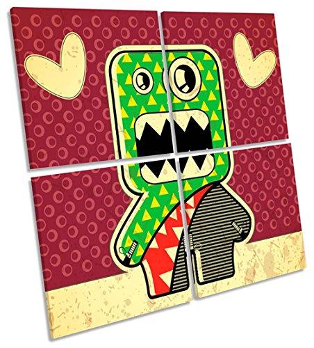akter Multi-Leinwand Wand Kunst Eckig Bild, gerahmter Kunstdruck, 150cm wide x 150cm high (Cartoon Monster High Charaktere)
