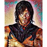 """Aluminium metal wall art """"Daryl Dixon"""" the walking dead"""