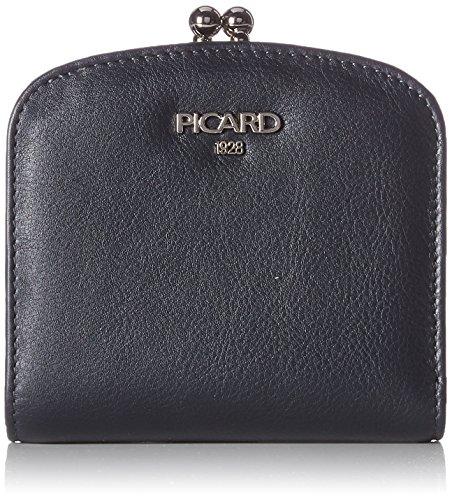 Picard Damen Bingo Münzbörse, Blau (Ozean), 9x3x10 cm - Gerahmte Geldbörse Aus Leder