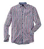 OLYMP Hemd Trachtenhemd Casual Modern Fit Rot/Blau, Größe M