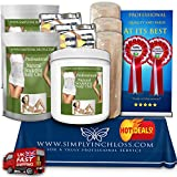 3 CONTOURING Bandage tums slimming inch loss body clay wrap CREAM spa kit approx1.5 ltrs - Bild