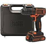 BLACK+DECKER BDCDC18K-QW Perceuse visseuse sans fil - Chargeur inclus - Livrée en coffret - Compacte et légère, 18V…