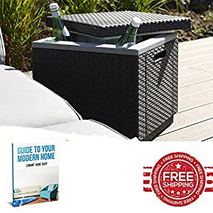 614lB I gLL. SS300  - Ice Cooler Box Beer Insulated Large Picnic Garden Rattan Big Outdoor Plastic Food Drink Storage & E book by SUMMIT HOME SHOP.