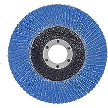 SBS–Disco de láminas (125mm de diámetro, grano 40inox Azul para amoladora angular–10Unidades