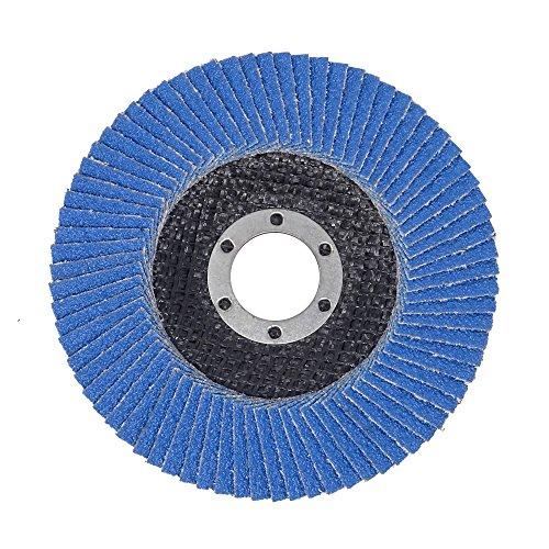SBS Fächerscheiben | ø 125 mm | Korn 40 | 10 Stück | INOX Blau für Winkelschleifer Schleifmop